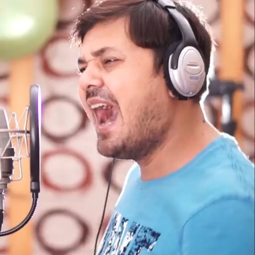 Singing on CG Film Star Anuj Sharma