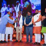 Chhattisgarhi filmmaker-director Satish Jain was honored by BJP Cultural Cell ...